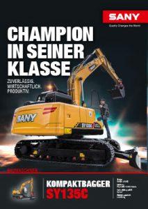 SANY Europe Broschüre SY135C