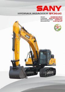 SANY Europe Broschüre SY365C
