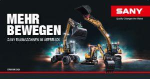 SANY Europe Baumaschinen Produktübersicht