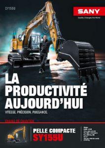 SANY Europe Baumaschine SY155U Broschüre Cover