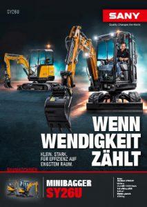 SANY Europe Baumaschine SY26U Broschüre Cover