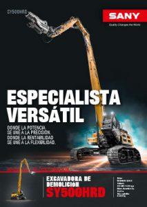 SANY Europe Baumaschine SY500HRD Broschüre Cover
